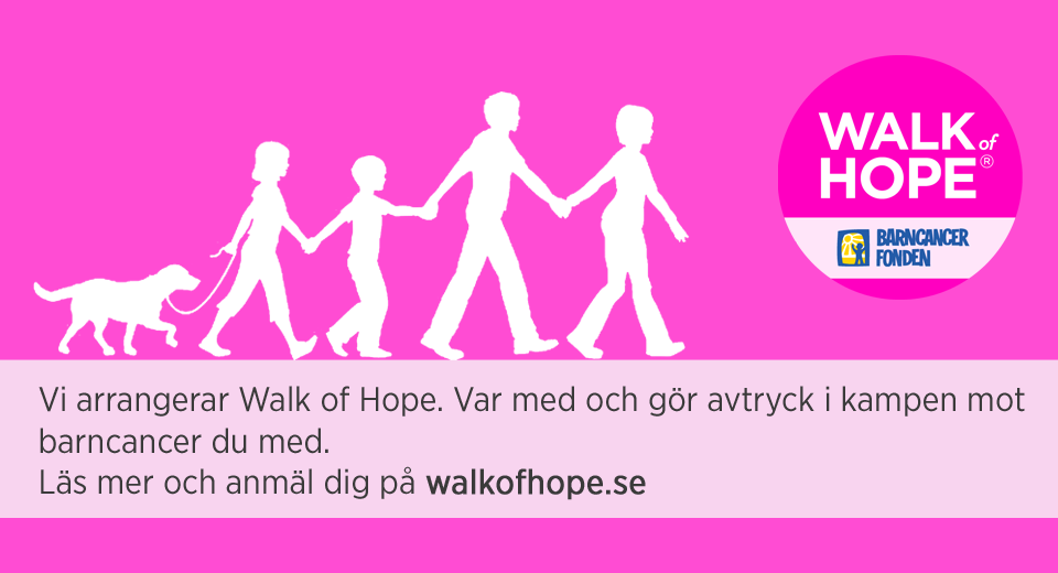 Påminnelse: Anmälan Walk of Hope