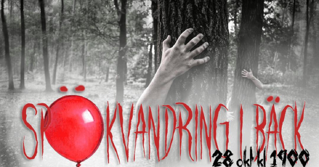 Påminnelse om spökvandring i Bäck 28 oktober kl 19:00