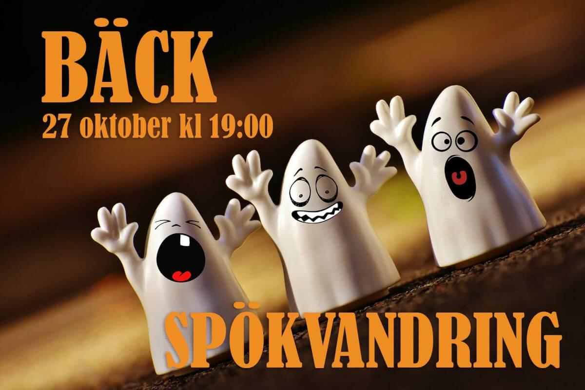 Spökvandring/lyskväll i Bäck 27 oktober kl 19:00
