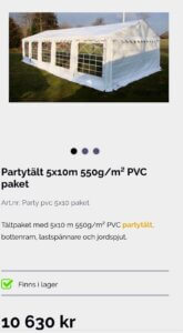 Bäcks partytält