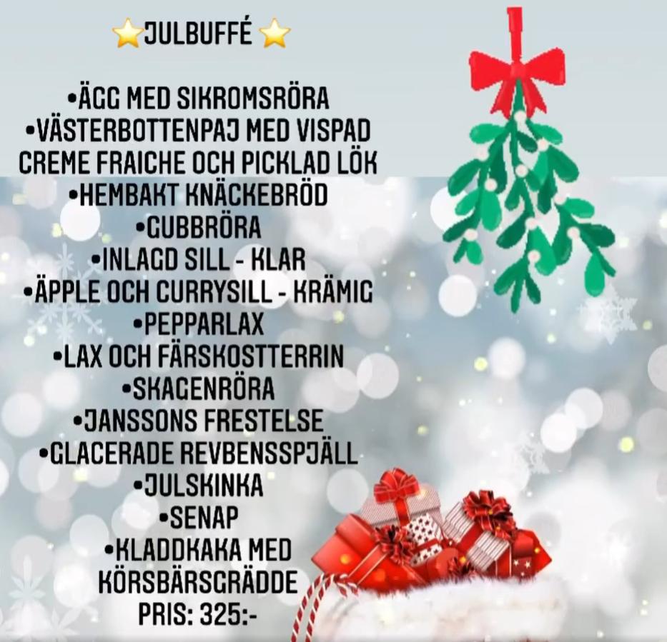 Julbuffé – fritt hemkört till Bäck 🎅