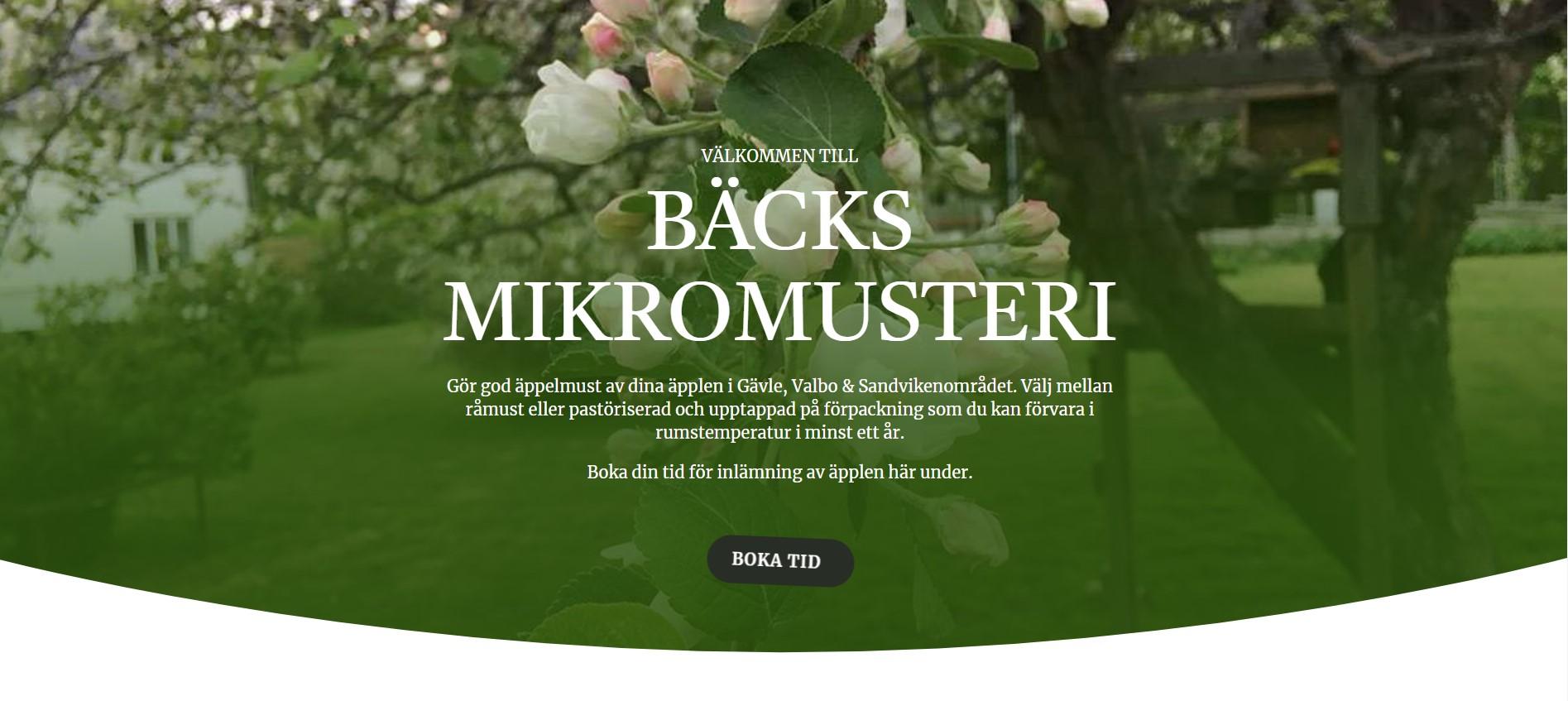 Välkommen till Bäcks lilla äppelmusteri